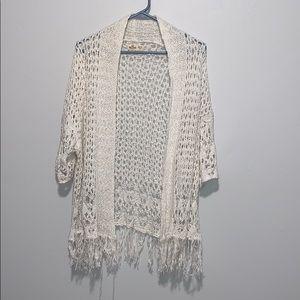 White crochet cardigan -  size Small/XS